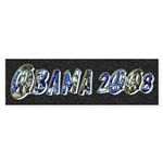 Obama 2008 Earth Bumper Sticker (50 pk)