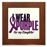 I Wear Purple For My Daughter 10 Framed Tile