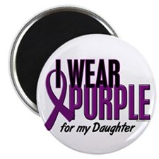 "I Wear Purple For My Daughter 10 2.25"" Magnet (10"