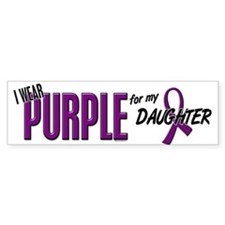 I Wear Purple For My Daughter 10 Bumper Bumper Sticker