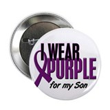 "I Wear Purple For My Son 10 2.25"" Button"