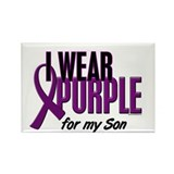 I Wear Purple For My Son 10 Rectangle Magnet