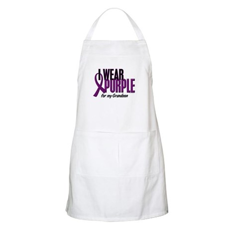 I Wear Purple For My Grandson 10 BBQ Apron