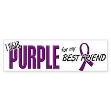 I Wear Purple For My Best Friend 10 Bumper Sticker