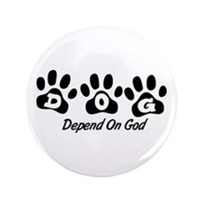 "Black DOG 3.5"" Button (100 pack)"