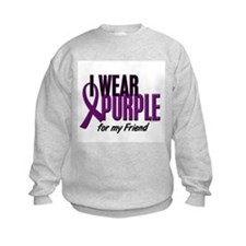 I Wear Purple For My Friend 10 Sweatshirt