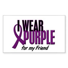 I Wear Purple For My Friend 10 Rectangle Decal