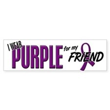 I Wear Purple For My Friend 10 Bumper Bumper Sticker