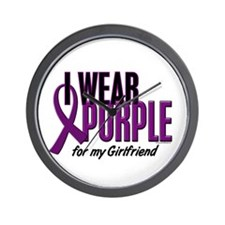 I Wear Purple For My Girlfriend 10 Wall Clock