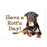 Rottweiler Rott'n Day Postcards (Package of 8)