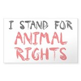 Animal rights Rectangle Sticker 50 pk)