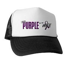 I Wear Purple For My Wife 10 Trucker Hat