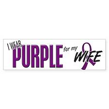 I Wear Purple For My Wife 10 Bumper Sticker