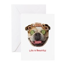 Bulldog Beauty Greeting Cards (Pk of 10)