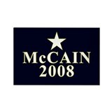 McCain 2008 Star Rectangle Magnet (10 pack)