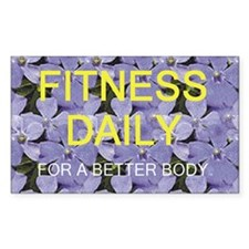 TOP Fitness Daily Rectangle Sticker 50 pk)