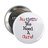 Autism Awareness Cure Button