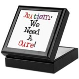 Autism Awareness Cure Keepsake Box