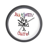Autism Awareness Cure Wall Clock