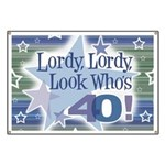 Lordy Lordy Look Who's 40 Banner