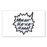 'Evil Laugh' Rectangle Sticker 10 pk)