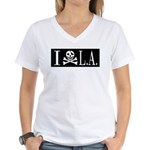 I Hate L.A. Women's V-Neck T-Shirt