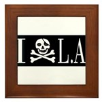 I Hate L.A. Framed Tile