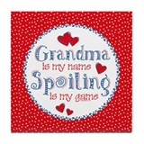 Spoiling Grandma Tile Coaster