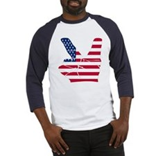 USA Peace Sign Baseball Jersey