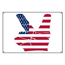 USA Peace Sign Banner