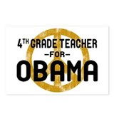 4th Grde Tchr For Obama Postcards (Package of 8)