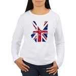 UK Victory Peace Sign Women's Long Sleeve T-Shirt