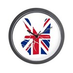 UK Victory Peace Sign Wall Clock