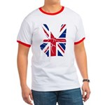UK Victory Peace Sign Ringer T