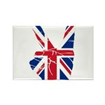 UK Victory Peace Sign Rectangle Magnet (10 pack)