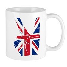 UK Victory Peace Sign Mug
