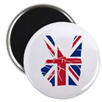 UK Victory Peace Sign Magnet