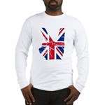UK Victory Peace Sign Long Sleeve T-Shirt