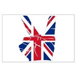 UK Victory Peace Sign Large Poster