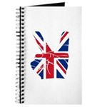 UK Victory Peace Sign Journal