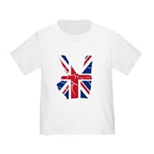 UK Victory Peace Sign T