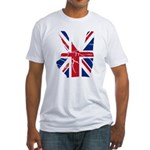 UK Victory Peace Sign Fitted T-Shirt