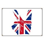 UK Victory Peace Sign Banner