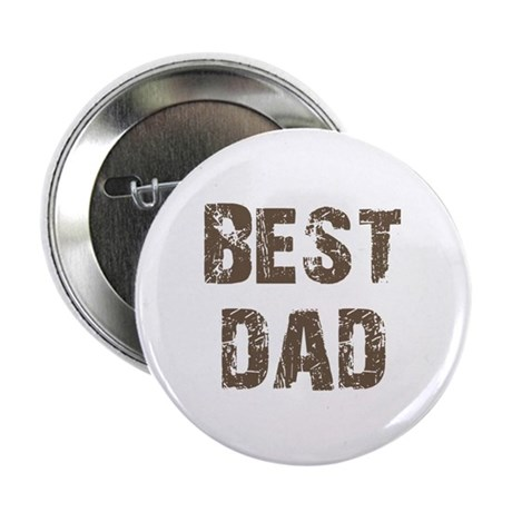 "Best Dad Father's Day Brown 2.25"" Button"