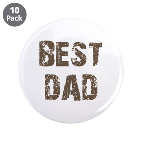 "Best Dad Father's Day Brown 3.5"" Button (10 pack)"