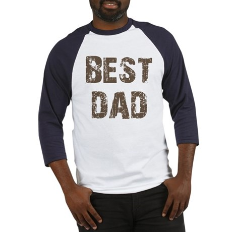 Best Dad Father's Day Brown Baseball Jersey
