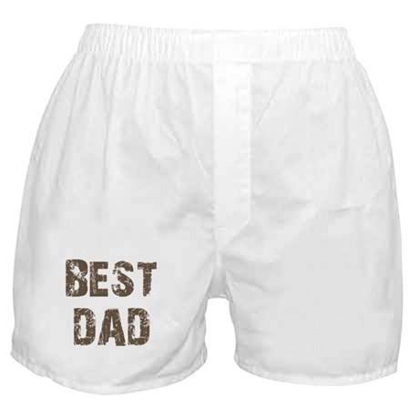 Best Dad Father's Day Brown Boxer Shorts