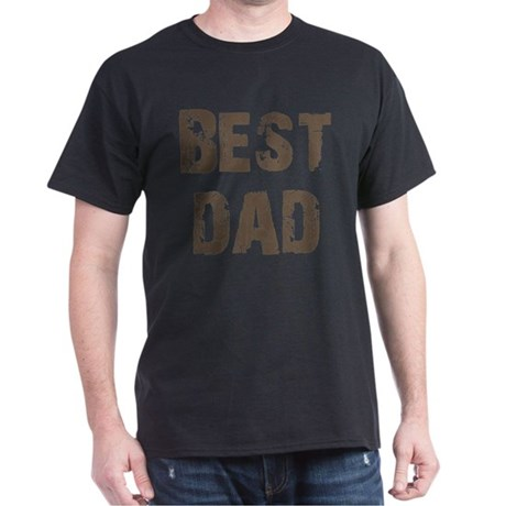 Best Dad Father's Day Brown Dark T-Shirt