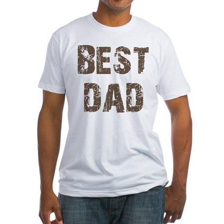 Best Dad Father's Day Brown Fitted T-Shirt