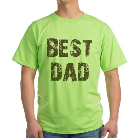 Best Dad Father's Day Brown Green T-Shirt